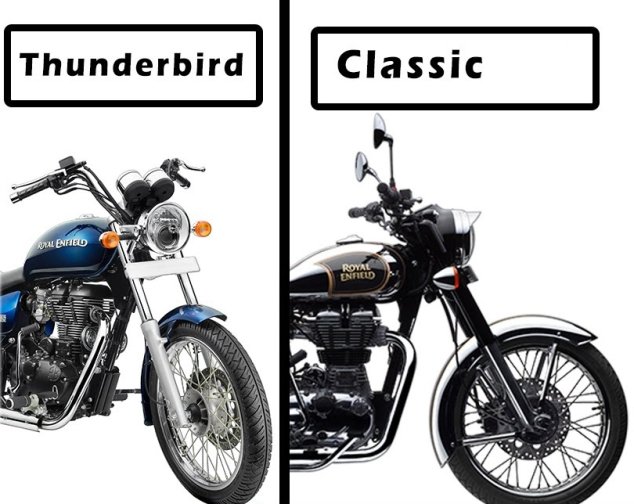the Royal Enfield Classic 350 or the Thunderbird 350